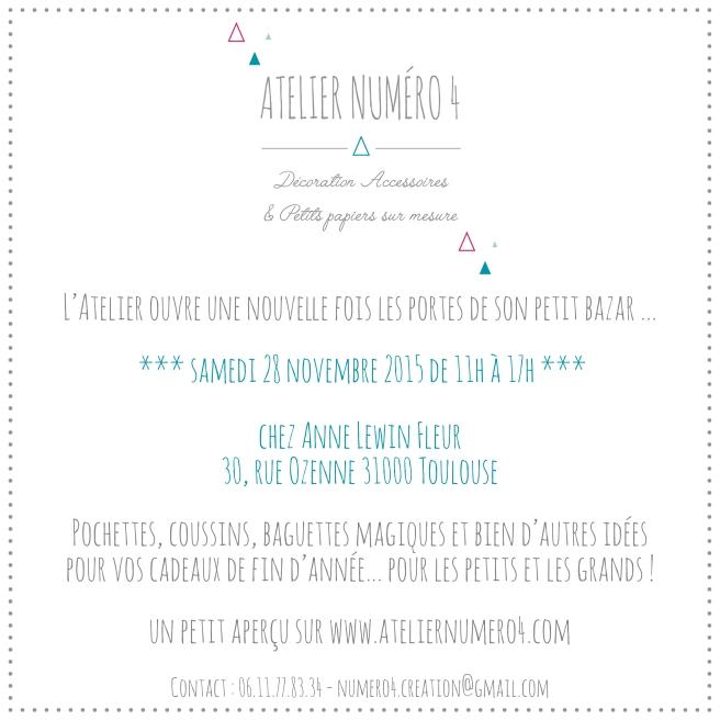 INVITATION VENTE DE NOEL - ATELIER NUMERO 4